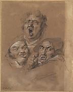 Study of Three Heads