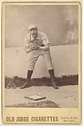 "Albert John ""Doc"" Bushong, Catcher, Brooklyn, from the series Old Judge Cigarettes"