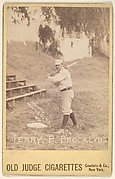 """William H. """"Adonis"""" Terry, Pitcher, Brooklyn, from the series Old Judge Cigarettes"""