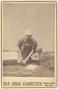 C.E. Hoover, Catcher, Chicago, from the series Old Judge Cigarettes