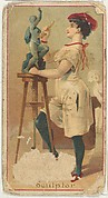 Sculptor, from the Occupations of Women series (N502) for Frishmuth's Tobacco Company