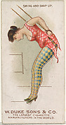 Swing and Snap Up, from the Gymnastic Exercises series (N77) for Duke brand cigarettes