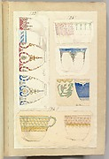 Eleven Designs for Decorated Cups, including Venice and Celestial Patterns