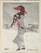 "Card 315, Winter Girl, from the series ""Artistic Pictures"" (T32), issued by Liggett & Myers Tobacco Company to promote Richmond Straight Cut Cigarettes"