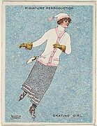 "Card 316, Skating Girl, from the series ""Artistic Pictures"" (T32), issued by Liggett & Myers Tobacco Company to promote Richmond Straight Cut Cigarettes"