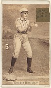 "Card 5, Double Him Up!, from the series ""Women Baseball Players"" (N508), issued by Pacholder Tobacco to promote Sub Rosa Cigarettes"