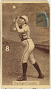 "Card 8, The Right Fielder, from the series ""Women Baseball Players"" (N508), issued by Pacholder Tobacco to promote Sub Rosa Cigarettes"