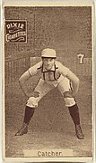 "Card 7, Catcher, from the series ""Women Baseball Players"" (N508), issued by Pacholder Tobacco to promote Dixie Cigarettes"