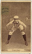 "Card 7, Catcher, from the series ""Women Baseball Players"" (N508), issued by Pacholder Tobacco to promote Sub Rosa Cigarettes"