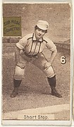 "Card 6, Short Stop, from the series ""Women Baseball Players"" (N508), issued by Pacholder Tobacco to promote Sub Rosa Cigarettes"