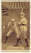 "Card 9, The Champion Batter, from the series ""Women Baseball Players"" (N508), issued by Pacholder Tobacco to promote Dixie Cigarettes"