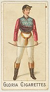 "From the series ""Sports Girls"" (C190), issued by the American Cigarette Company, Ltd., Montreal, to promote Gloria Cigarettes"