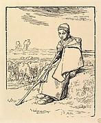 Seated Shepherdess