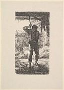 Man Threshing Wheat