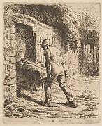Peasant Pushing A Wheelbarrow