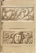 Two Carved Stone Ornamental Panels
