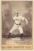 Sanders, Pitcher, Philadelphia, from the series Old Judge Cigarettes