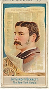 James Gordon Bennett, The New York Herald, from the American Editors series (N1) for Allen & Ginter Cigarettes Brands