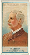 G.C. Goodwin, The Salt Lake City Tribune, from the American Editors series (N1) for Allen & Ginter Cigarettes Brands