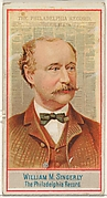William M. Singerly, The Philadelphia Record, from the American Editors series (N1) for Allen & Ginter Cigarettes Brands