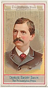 Charles Emory Smith, The Philadelphia Press, from the American Editors series (N1) for Allen & Ginter Cigarettes Brands