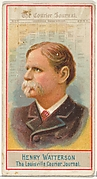 Henry Watterson, The Louisville Courier Journal, from the American Editors series (N1) for Allen & Ginter Cigarettes Brands