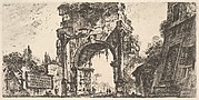Arch of Drusus at the Porta S. Sebastiano in Rome (Arco di Druso alla Porta di Sebastiano in Roma)