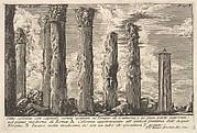 Seven columns of the Temple of Juturna with Corinthian capitals . . . (Sette colonne con capitelli corinti spettanti al Tempio di Giuturna . . .)