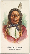 Black Hawk, Dakota Sioux, from the American Indian Chiefs series (N2) for Allen & Ginter Cigarettes Brands