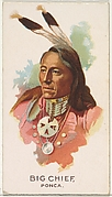 Big Chief, Ponca, from the American Indian Chiefs series (N2) for Allen & Ginter Cigarettes Brands