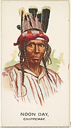 Noon Day, Chippeway, from the American Indian Chiefs series (N2) for Allen & Ginter Cigarettes Brands