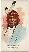 Red Bird, Chippeway, from the American Indian Chiefs series (N2) for Allen & Ginter Cigarettes Brands