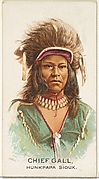 Chief Gall, Hunkpapa Sioux, from the American Indian Chiefs series (N2) for Allen & Ginter Cigarettes Brands
