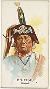 British, Ioway, from the American Indian Chiefs series (N2) for Allen & Ginter Cigarettes Brands