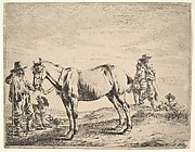 Man Holding a Horse by the Bridle