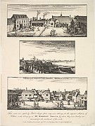Two Views of Arundel House and London and the Thames as seen from the roof of Arundel House in 1646