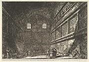 The so-called Temple of Bacchus, now the Church of S. Urban, interior (Veduta interna dell antico Tempio di Bacco, or. di S. Urbano)
