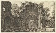 The so-called Grotto of Egeria (Veduta della fonte e delle spelonche d'Egeria fuor della Porta Capena)