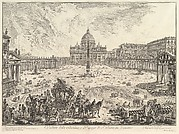 View of St. Peter's Basilica and Piazza in the Vatican, from Vedute di Roma (Roman Views)