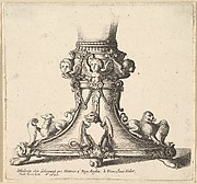 Base of an Ornamented Vase or Cup