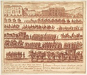 Entry of the Prince of Saxony with his Wife into Dresden on September 2, 1719, after their Marriage in Vienna