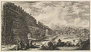 Veduta degli avanzi del Castro Pretorio nella Villa Adriana a Tivoli (View of the Remains of the Praetorian Fort [the Poecile], Hadrian's Villa, Tivoli)