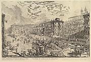 The Piazza di Spagna (Veduta di Piazza di Spagna)