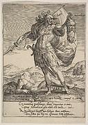 Judah with the Head of Adonibezek, from Willem van Haecht, Tyrannorum proemia, 1578