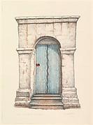 Door of mission San Juan