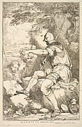 Banditti Taking His Post (from Fifteen Etchings Dedicated to Sir Joshua Reynolds)