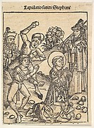 The Martyrdom of St. Stephen, from The Nuremburg Chronicle, folio 103