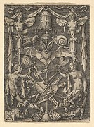Design for a Candelabra Grotesque with a Bat in the Center
