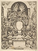 Design for a Cartouche, Plate from Dietterlin's Architecttura