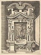 Design for a Lavabo, Plate 85 from Dietterlin's Architectura